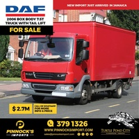 DAF 2006 Box Body 7.5T Truck With Tail Lift