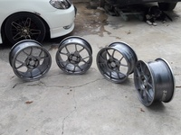 16 inch 4 lug light weight racing rims a few minor cracks no bend,dent