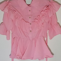 Girls Blouse in Pink Color Frail Pattern Size Large