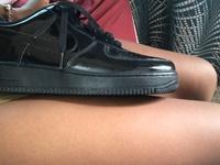 Black Air Force 1s size 9.5 men