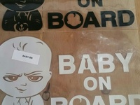 Baby and Board sticker