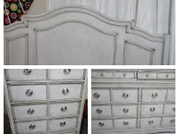 Used Bedroom Furniture, lamp, mattress, printer