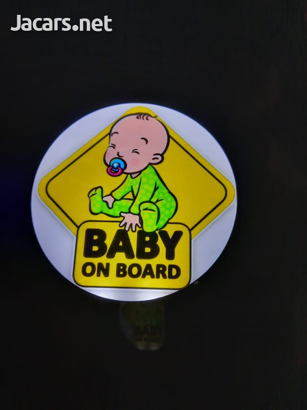 Windshield Lighted Baby on Board decal-1