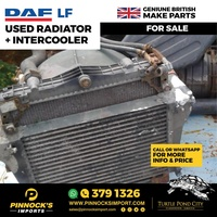 DAF LF USED RADIATOR AND INTERCOOLER