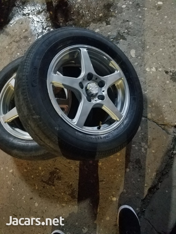 4 x 15 inch rim and tyre-2