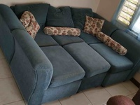 Blue Couch with 4 Parts