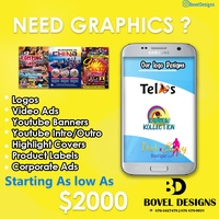 Graphic Designer -Posters,logo,Flyers,Channel Banner