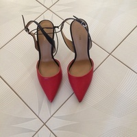 Size 9 Black and Red New Heels
