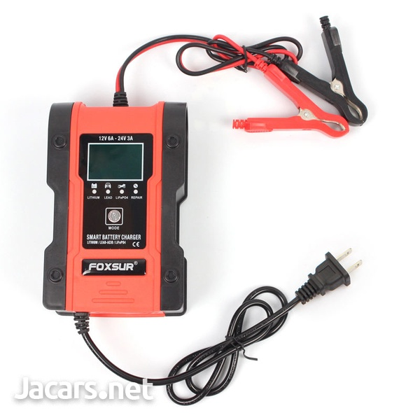 12V 7 Stage Car Battery Charger Red-3