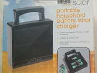 Portable household battery solar charger