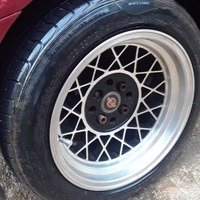 15inch rims and tyre.