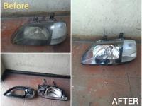 Head lamp restoration service long lasting