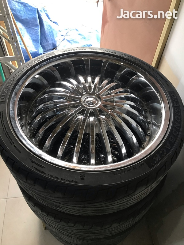 22 Chrome Rims with tyres-2