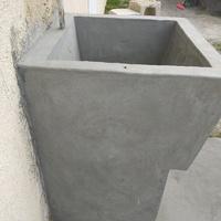 concrete wash tub