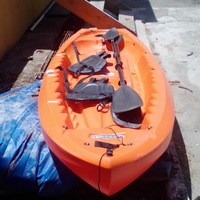 Kayaks, paddleboard, snorkel gears life jackets 10hp boat engine