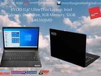 11.6inch Evoo Laptop 3GB Ram, 32GB SSD Windows 10