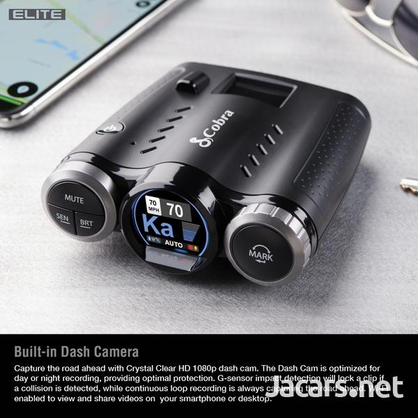 DASH CAM Cobra 0181000-0 Elite Series Road Scout Radar/Laser Detector-6