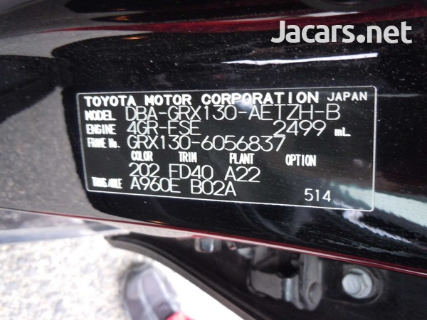 Toyota Mark X 2,5L 2012-3