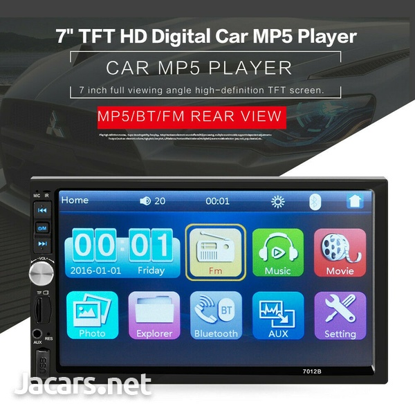 7 inch Double 2 DIN Car MP5 Player Radio, No built-in GPS-7