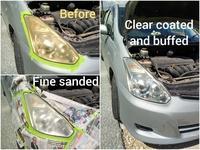 Vehicle head lamp restoration service