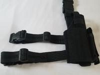 Universal Drop leg Pistol Holster Black/Right Handed.
