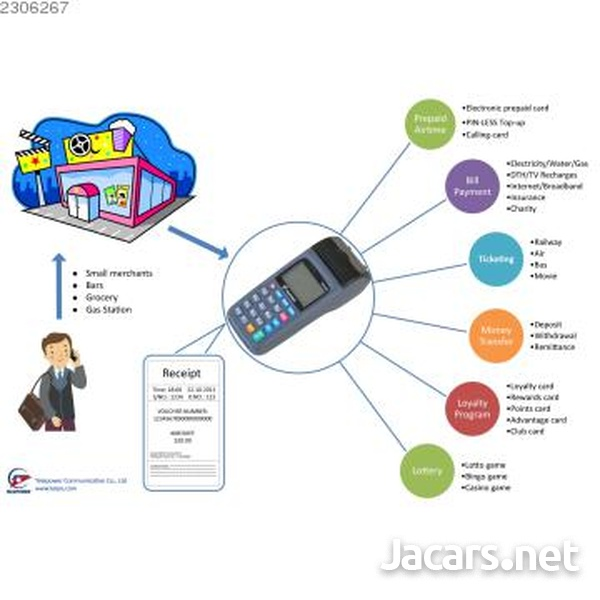PHONE CARD TERMINALS, CASHPOT PREPAID LIGHT-8