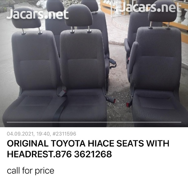 GENUINE TOYOTA HIACE SEATS WITH HEAD REST AND HARM REST.876 3621268