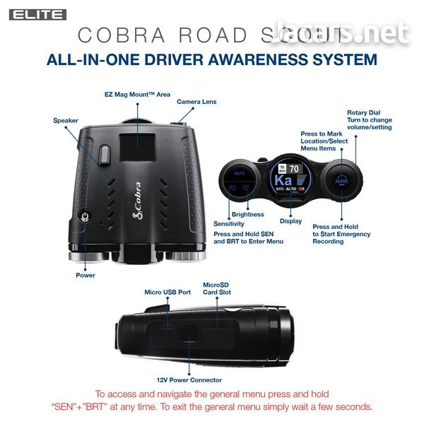 DASH CAM Cobra 0181000-0 Elite Series Road Scout Radar/Laser Detector-4