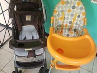 Baby Stroller and High Chair Combo
