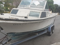 Priced to go Boat trailer and 25ft boat