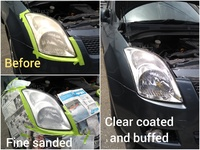 Factory standard vehicle head lamp restoration service