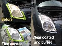 Factory standard vehicle head lamp restoration service