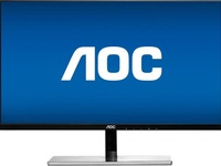 AOC - 21.5inch IPS LED FHD Monitor - Black and silver