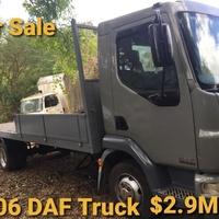 2 Daf trucks Flat bed