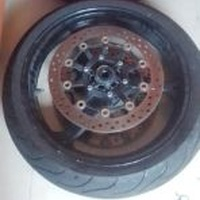 2007 to 2012 Honda CBR 600rr Front rim with rotor