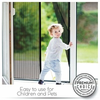Magnetic Screen Door Magic Instant Mesh Screen Walk Through Fly Bug Of