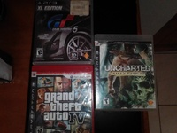 GTA 4 , UNCHARTED AND GRAN TURISMO FOR PS3 | 4500 dollars |1500 each