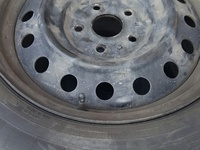 MarkX 5 lug 16 inch factory steel rims wid 1 good tyre with hub caps