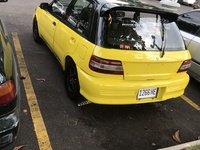 Crashed Toyota Starlet 1,5L 1996