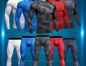 Men's Sportswear Compression Shirt andTights