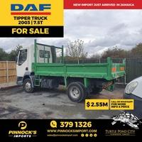 DAF Tipper Truck 7.5T 2003