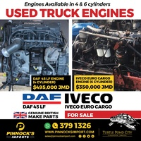 USED TRUCK ENGINES DAF / IVECO AND MORE