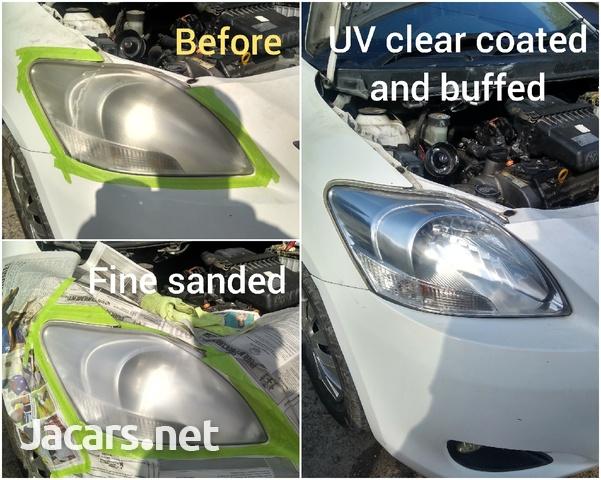 2 years lasting UV coating head lamp restoration