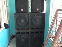 Complete sound system and bounce about can be sold separ. Call 8801800