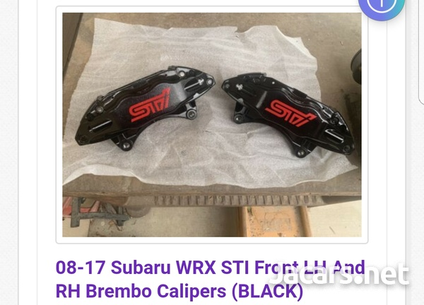 STI front brake calipers brembo