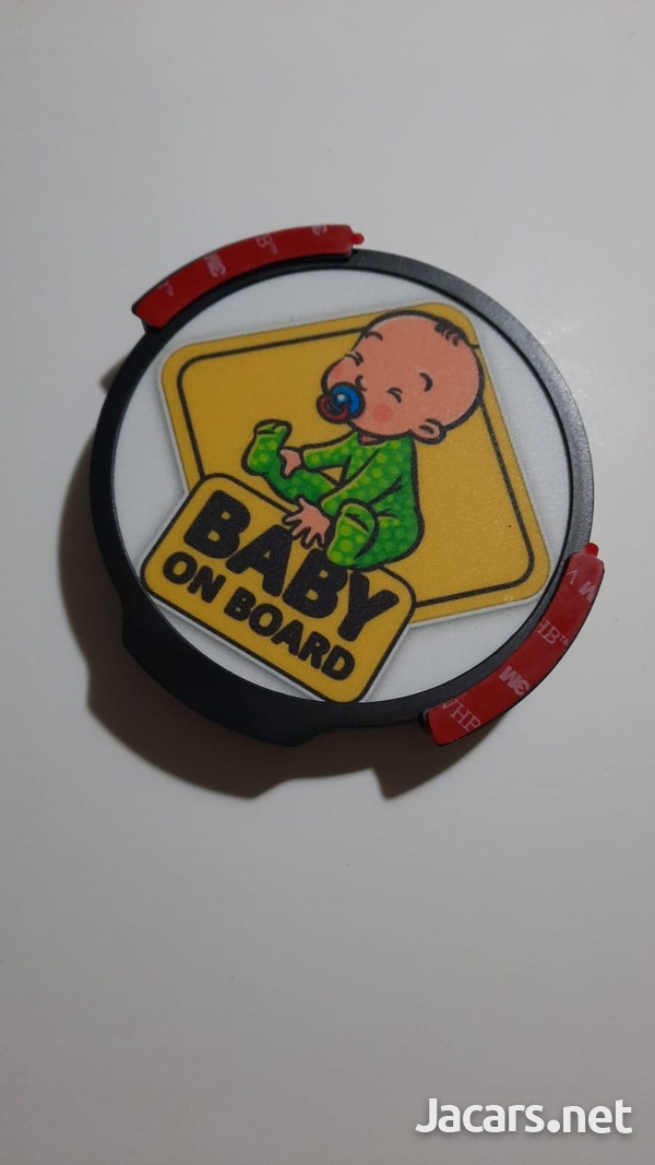 Windshield Lighted Baby on Board decal-8