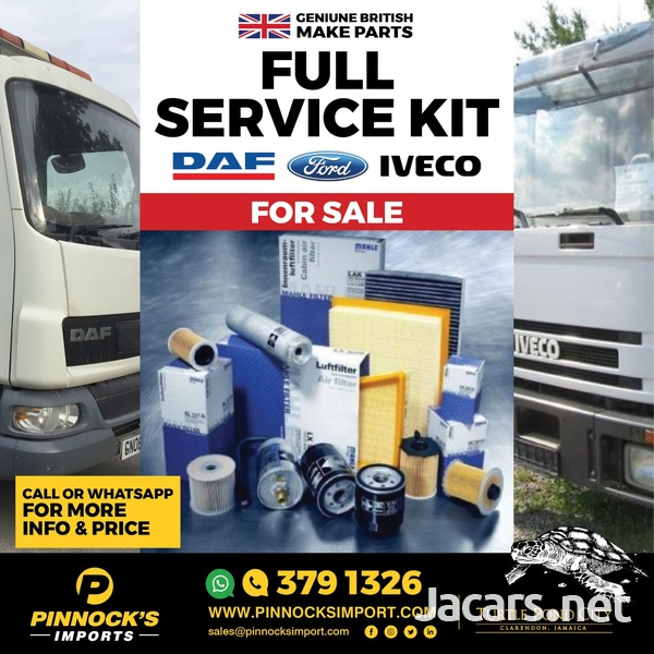 FULL SERVICE KITS DAF / FORD / IVECO AND MORE