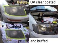 UV clear coating head lamp restoration service