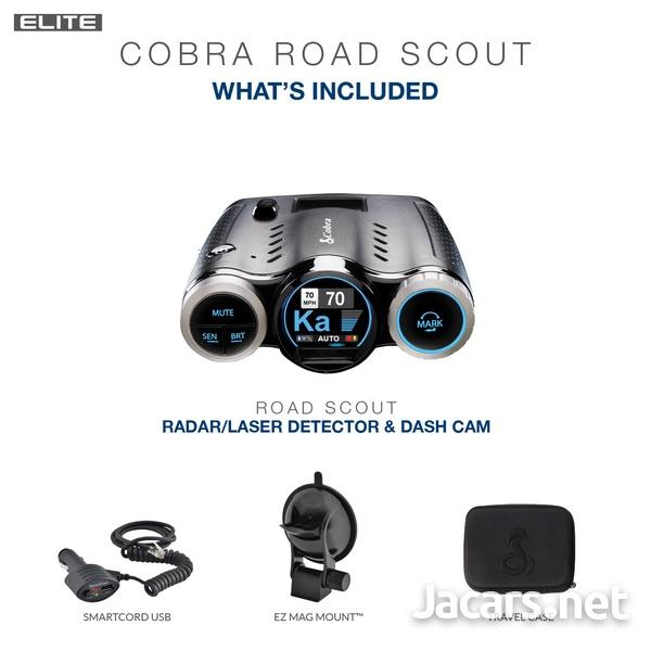 DASH CAM Cobra 0181000-0 Elite Series Road Scout Radar/Laser Detector-8