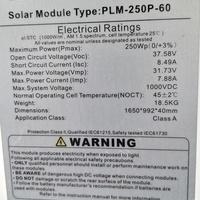 Solar Panels - 250 watts